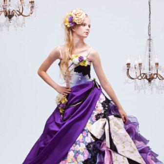 ささきセレクション:紫和柄ドレス