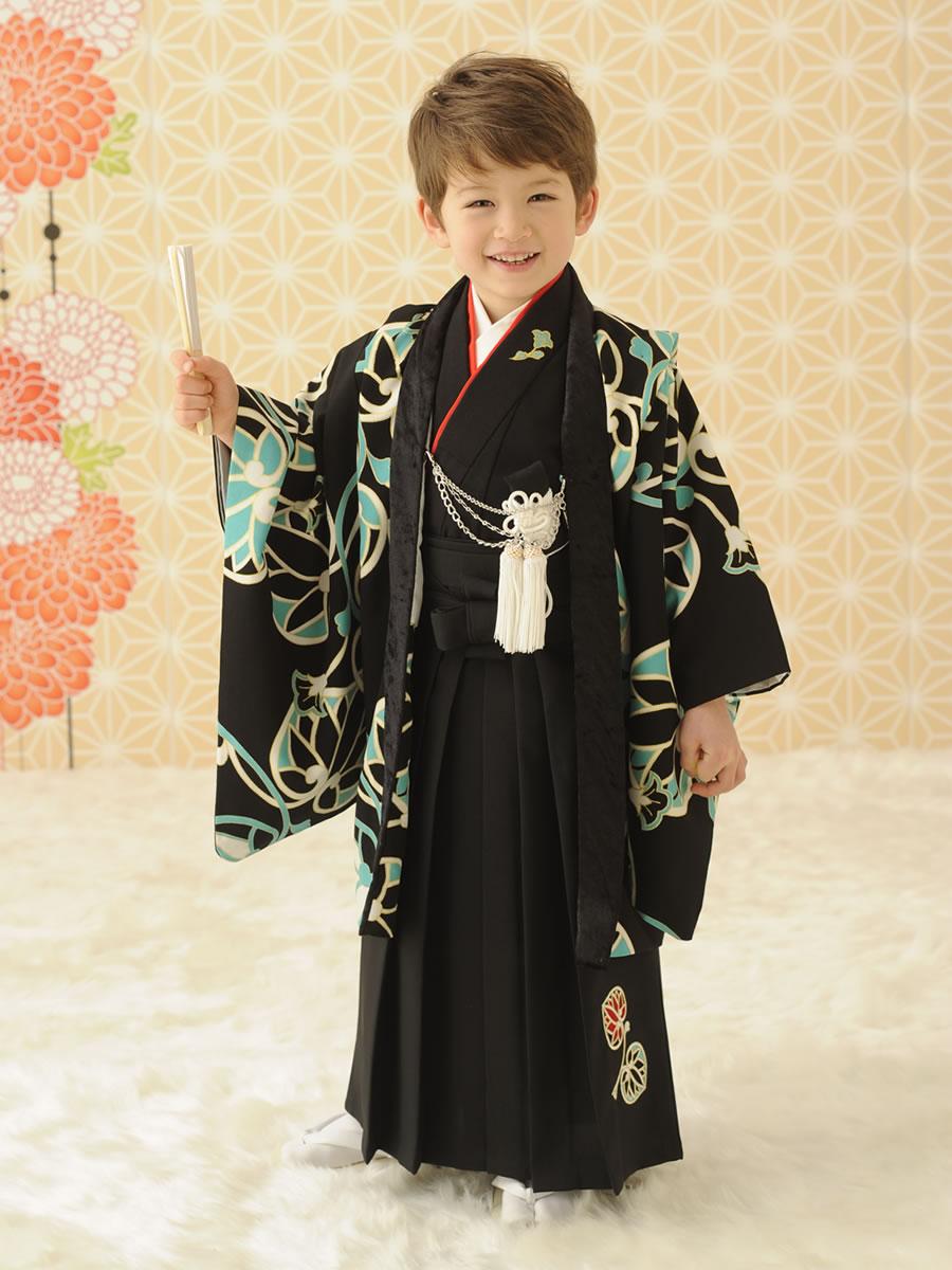 5才男児:紋付:ぷちぷり:黒