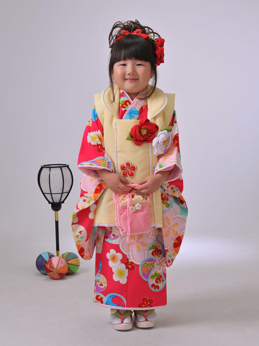 3才女児:被布(谷花音)ぷちぷり:クリームピンク