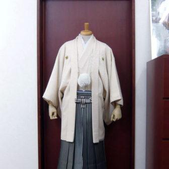 【紋付】光雲×【袴】濃紺シルバー