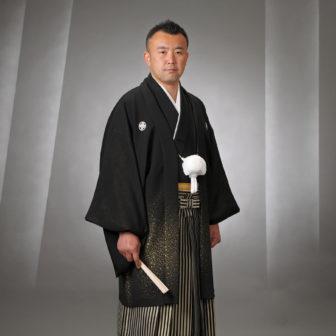 【紋付】黒金×【袴】黒金