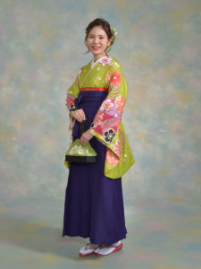 二尺袖130MPキュートひわ×袴003紫