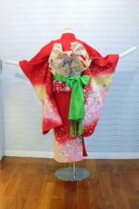 5400-030-00M:赤ラメ入り花ちらし:¥15,000(税別)