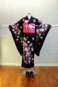 5400-036-00M:ジャパンスタイル 黒地しだれ桜:¥20,000(税別)