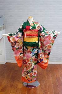 5400-047-00M:グリーンさや形に菊桜:¥25,000(税別)